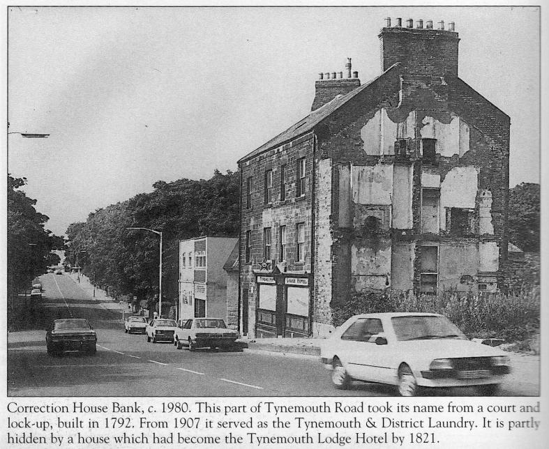 Photograph of Correction House Bank c1980 showing Tynemouth Lodge Hotel prior to restoration